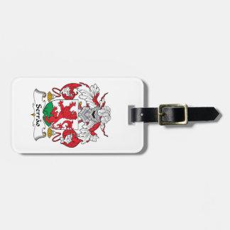 Serrao Family Crest Luggage Tag
