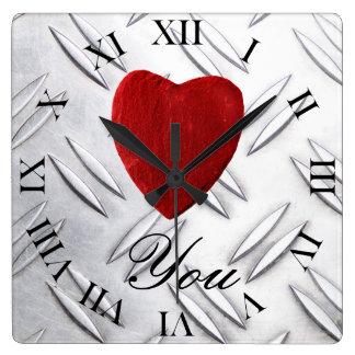 Serrated sheet background Love you Clocks