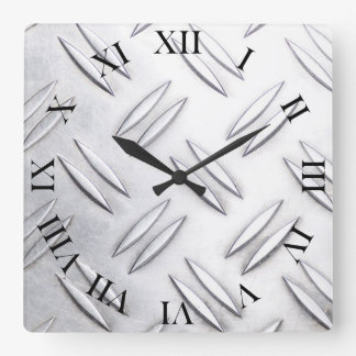 Serrated sheet background square wall clock