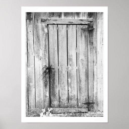 Serrure de porte de grange poster zazzle - Porte de grange ...