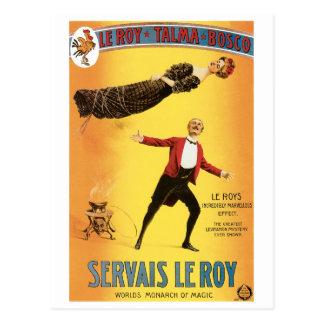 Servais Le Roy ~ Vintage Monarch of Magic Act Postcard