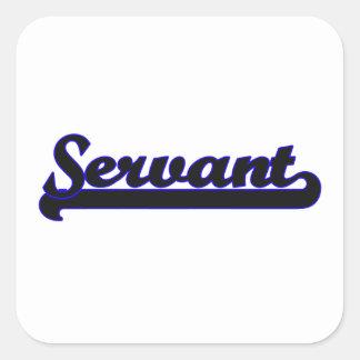 Servant Classic Job Design Square Sticker