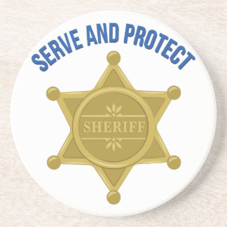 Serve And Protect Drink Coaster