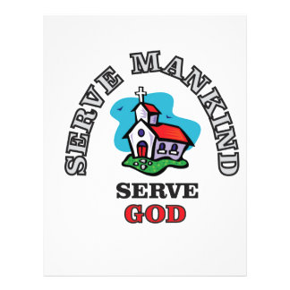 serve god church personalized letterhead