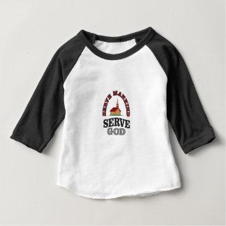 serve god serve mankind art baby T-Shirt