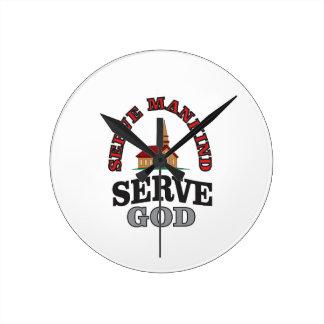 serve god serve mankind art clocks