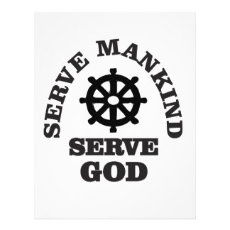 serve god serve mankind personalized letterhead