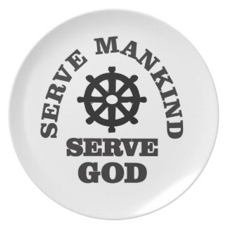 serve god serve mankind plate