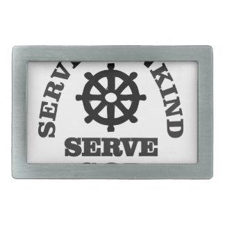 serve god serve mankind rectangular belt buckles