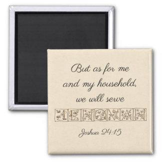 Serve Jehovah...Scripture Magnet~Gold Magnet