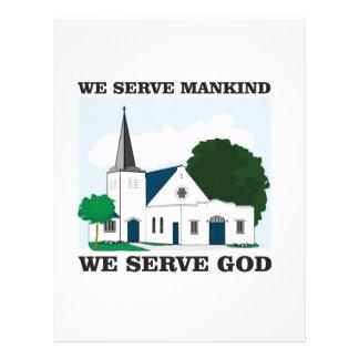 serve mankind serve god love customized letterhead