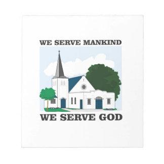 serve mankind serve god love notepad