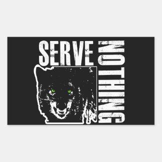 Serve Nothing 1_BLKSTICKER Sticker