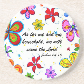 Serve The Lord Christian Coasters