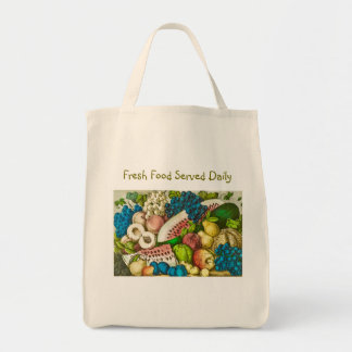 Served Fresh Daily Grocery Tote