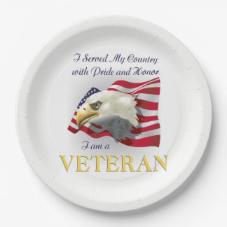Served My Country Veterans Day Party Paper Plates 9 Inch Paper Plate