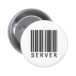 Server Bar Code 2 Inch Round Button