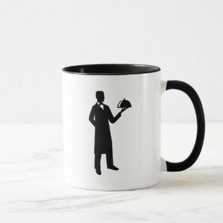 Server waiter cloche mug