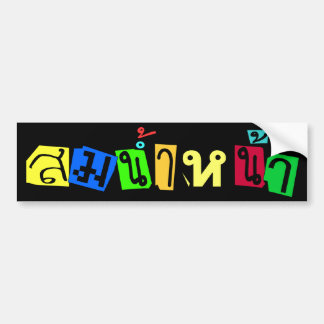 Serves You Right! ☆ Som Nam Naa in Thai Language ☆ Bumper Sticker