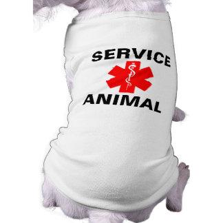 Service Animal Red Medical Alert Symbol Tank Top Dog Tee Shirt
