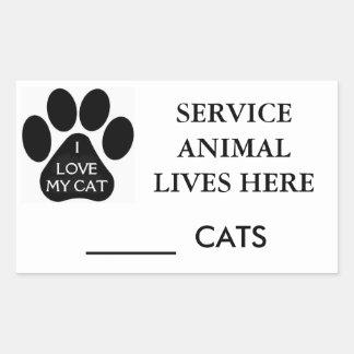 Service Animal Sticker