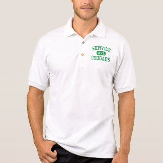 Service - Cougars - High School - Anchorage Alaska Polo Shirt