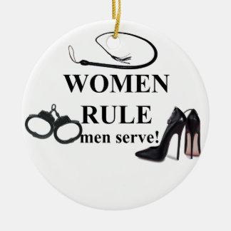 SERVICE D HOMMES DE RÈGLE DE FEMMES DÉCORATION DE NOËL