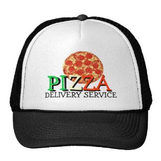 Service de distribution de pizza casquette