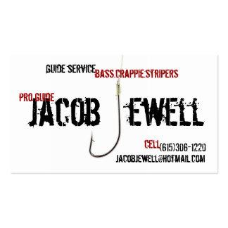 Service de guide de la pêche de Jacob Carte De Visite Standard