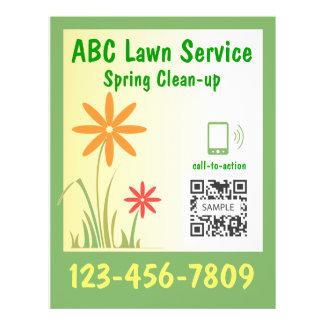 Service de pelouse de modèle d'insecte prospectus en couleur