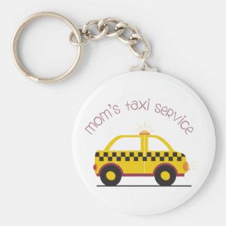 Service de taxi de mamans porte-clé rond