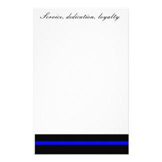 Service, dedication, loyalty stationary stationery