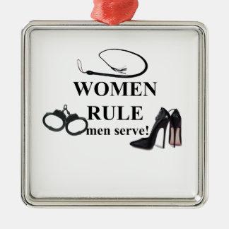 SERVICE D'HOMMES DE RÈGLE DE FEMMES ORNEMENT