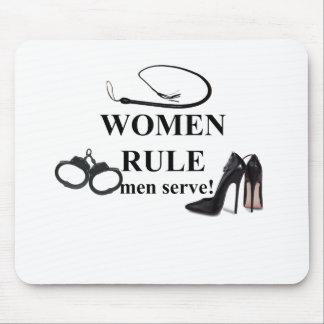SERVICE D'HOMMES DE RÈGLE DE FEMMES TAPIS DE SOURIS