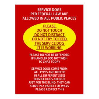 Service Dog Etiquette Postcard