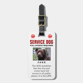 Service Dog - Full Access Required Badge Luggage Tag