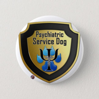 Service Dog Helpers Blue Jelly 2 Inch Round Button