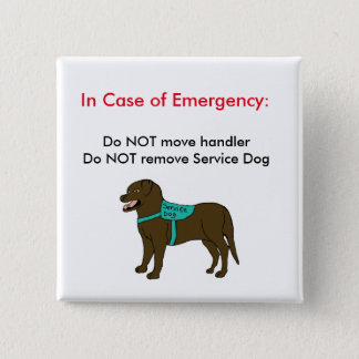 Service Dog ICE Button 2
