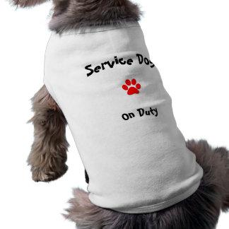 Service Dog on duty Shirt