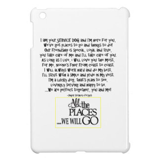 Service dog poem FNL BACK yellow Case For The iPad Mini