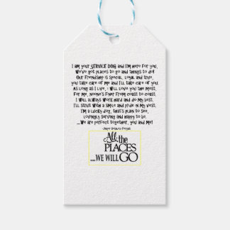 Service dog poem FNL BACK yellow Gift Tags