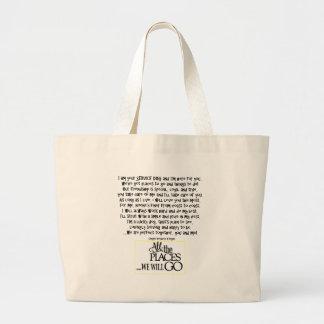 Service dog poem FNL BACK yellow Large Tote Bag