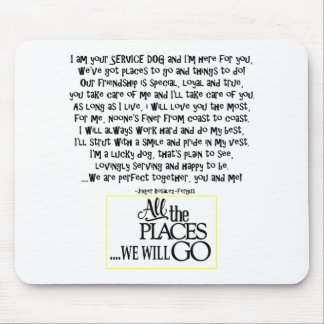 Service dog poem FNL BACK yellow Mouse Pad