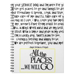 Service dog poem FNL BACK yellow Notebook