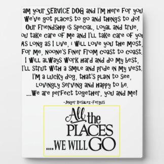 Service dog poem FNL BACK yellow Plaque