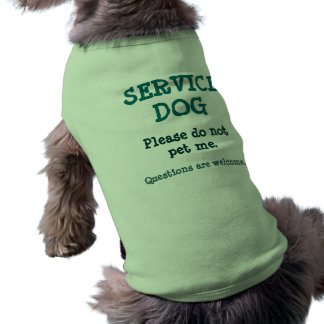 Service Dog/Questions 2 Dog Shirt