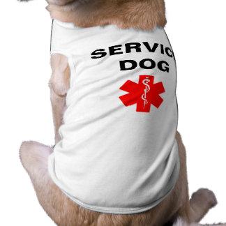 Service Dog Red Medical Alert Symbol T-Shirt Tank Doggie Shirt