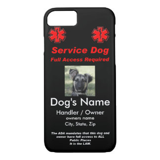 Service Dog Tag iPhone 8/7 Case