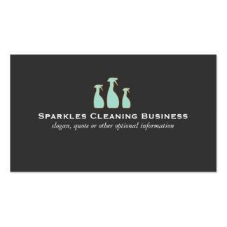 Service élégant de nettoyage de logo de bouteille cartes de visite professionnelles