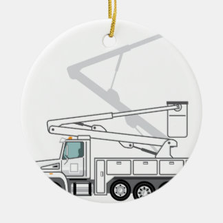 Service Truck Ceramic Ornament